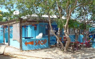 The Dive Bus shop, front and side