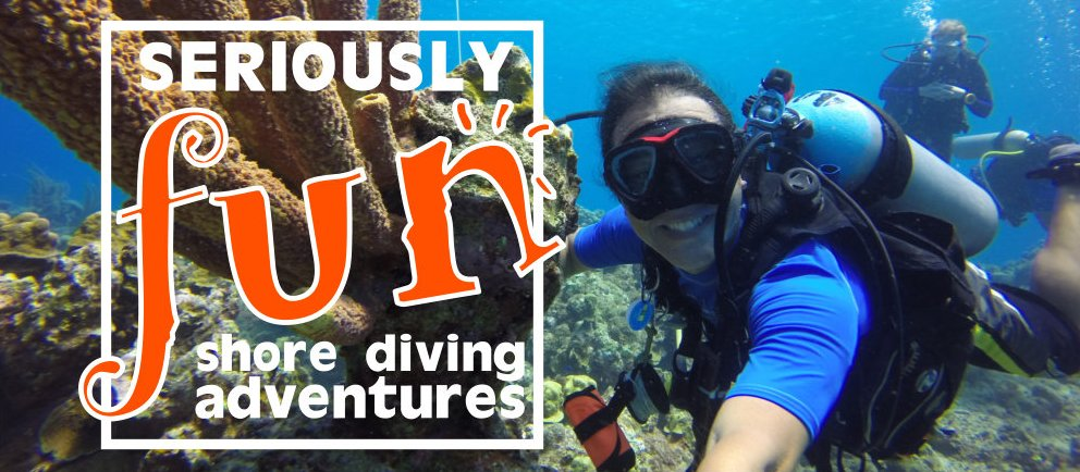 Seriously fun shore diving adventures and PADI dive courses, Curacao