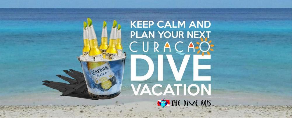 Corona-The-Dive-Bus Keep Calm. plan dive vacation, horizontal