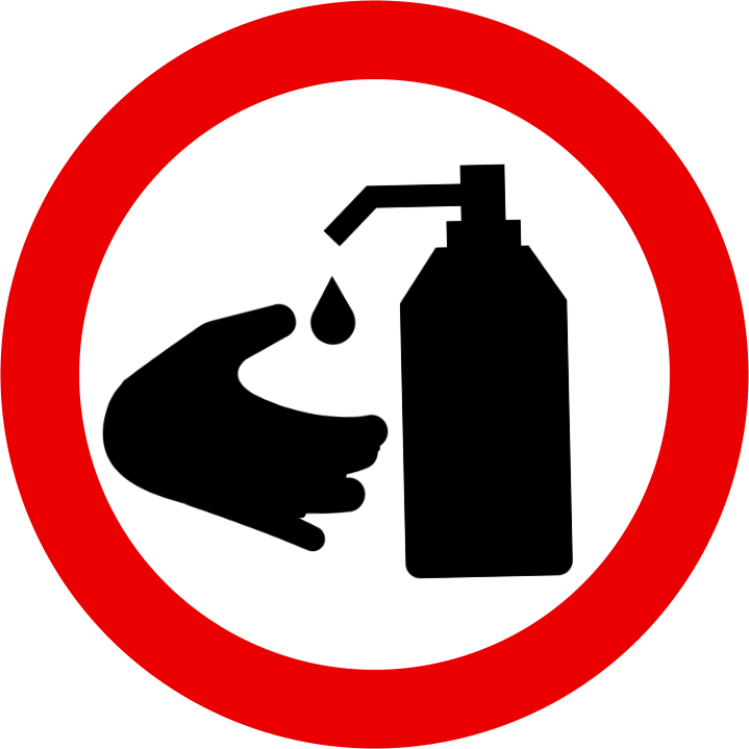 Hand sanitizing image for signs